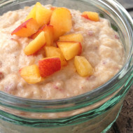 Recipe: Brown Rice Peach Pudding