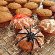 Recipe: Whole-Wheat Pumpkin Muffins with Cinnamon Glaze (Halloween Edition)