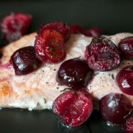 Recipe: Roasted Alaskan Salmon with Cherries