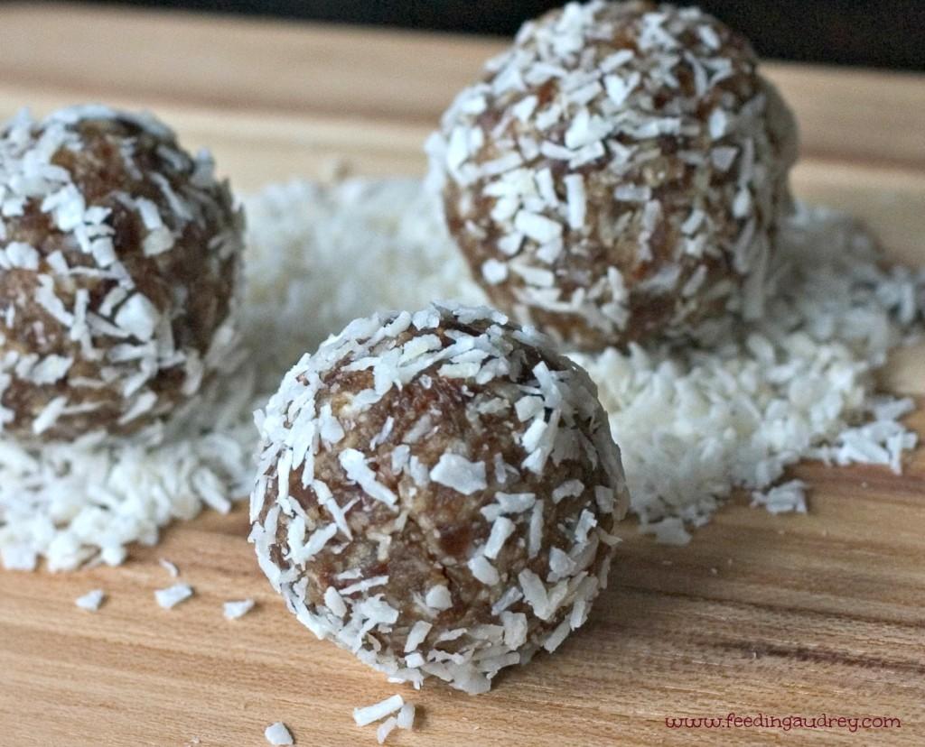 Coconut-Date Snack Bites  www.redkitchenette.com