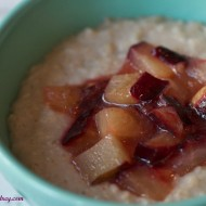 Roasted Plum Oatmeal