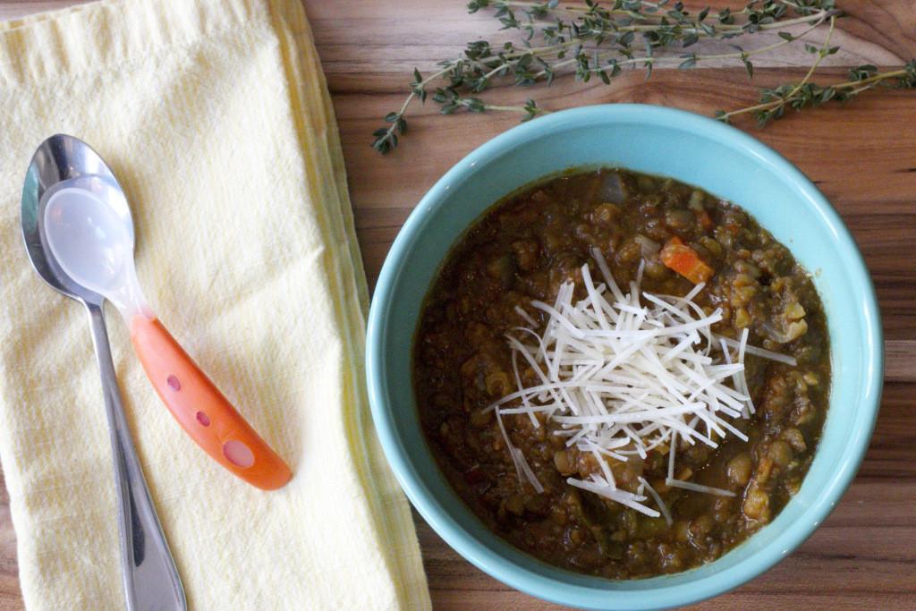 cozy lentil soup www.redkitchenette.com