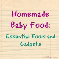 Homemade Baby Food: Essential Tools and Gadgets