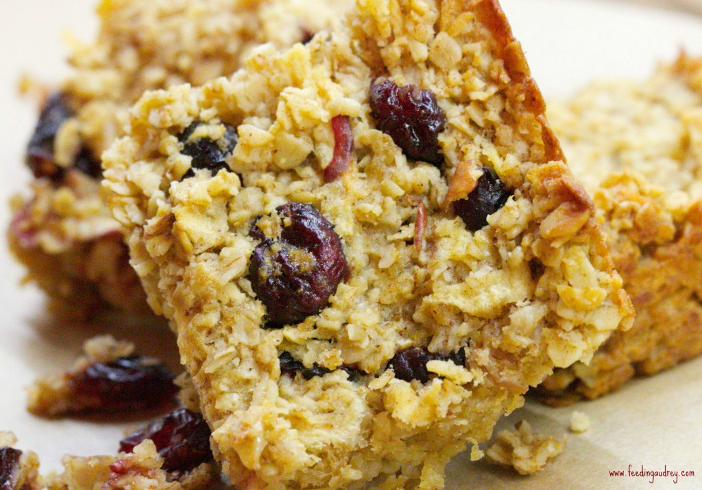 Apple-Cranberry Oat Bar  www.redkitchenette.com