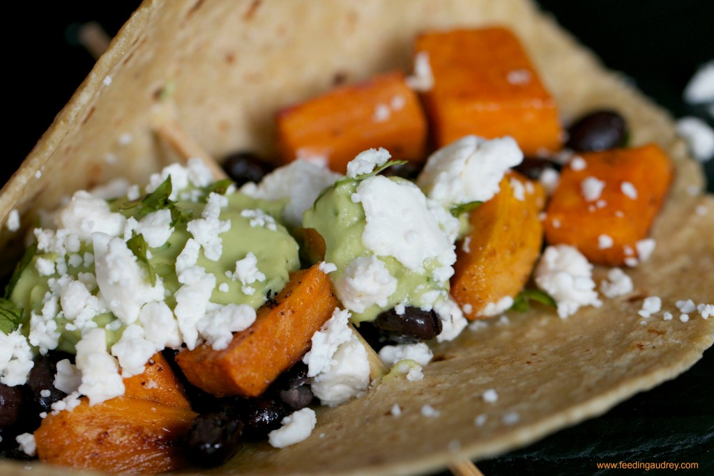 Sweet Potato & Black Bean Tacos www.redkitchenette.com