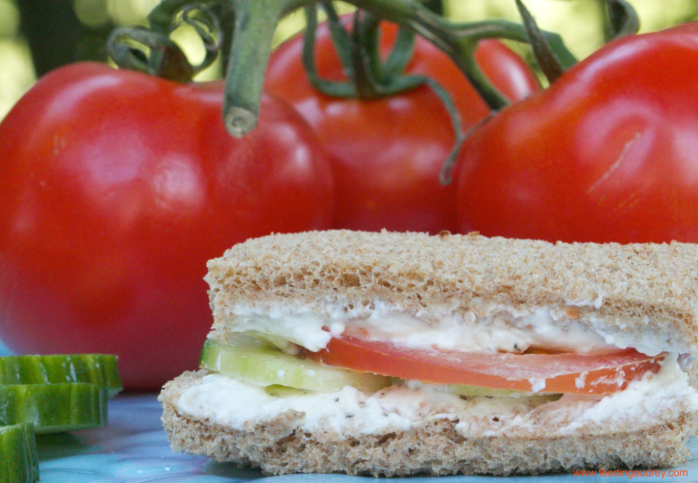 Watch How to Make a Cucumber Cream Cheese Sandwich video