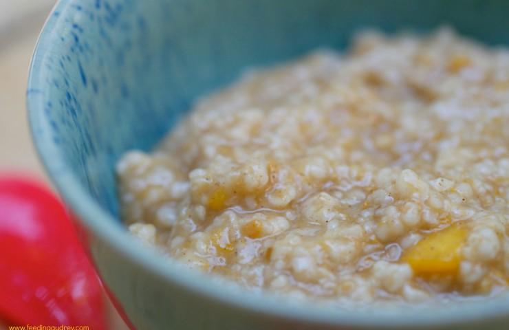 Feeding Emme: Peach Baby Oatmeal