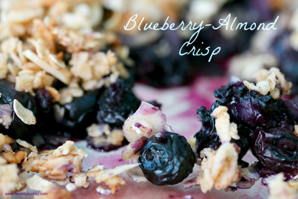 blueberry-almond crisp www.redkitchenette.com