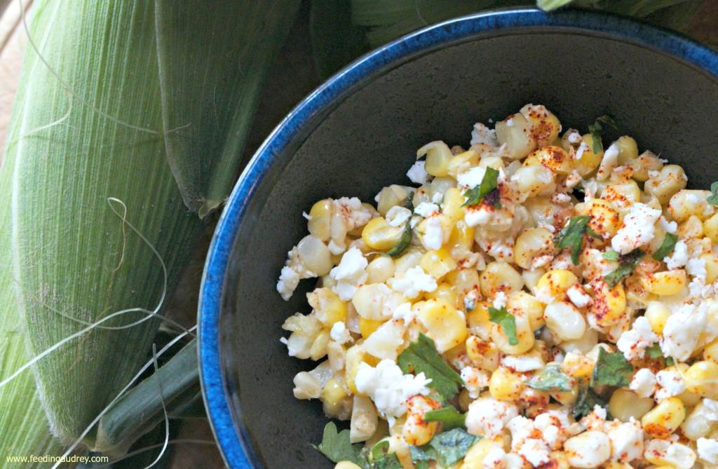 street corn salad www.redkitchenette.com