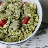 Spinach Pesto Pasta (Nut-Free)