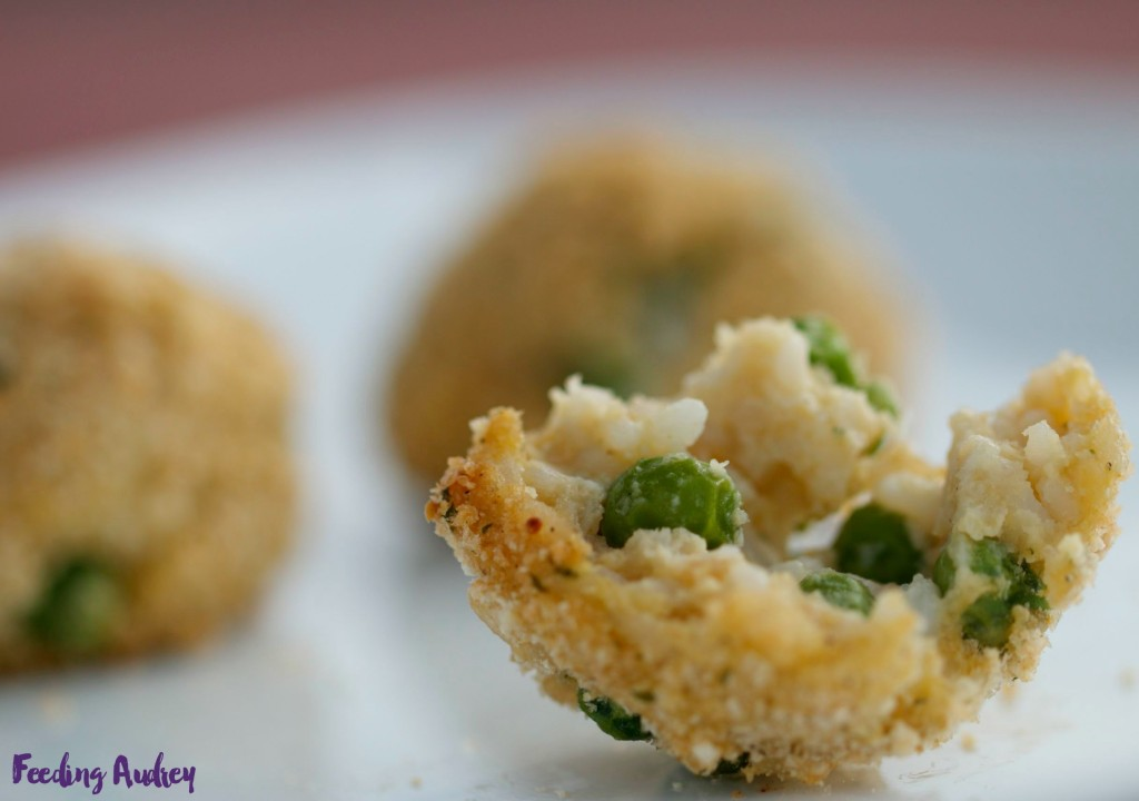 arancini with peas www.feedingaudrey.com