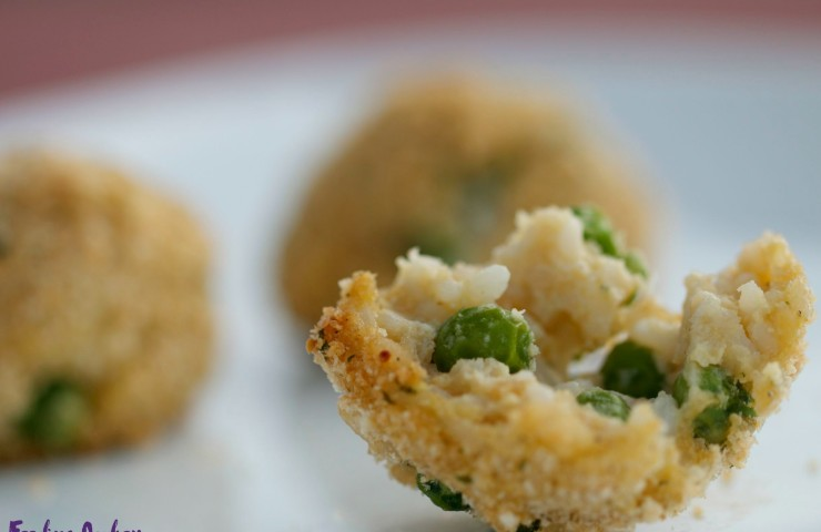 Mini Arancini with Peas