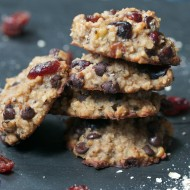 Chocolate Cranberry Chia Cookies (Flour-Free, Vegan)