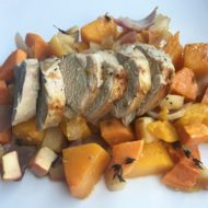 Apple Roasted Pork & Vegetables