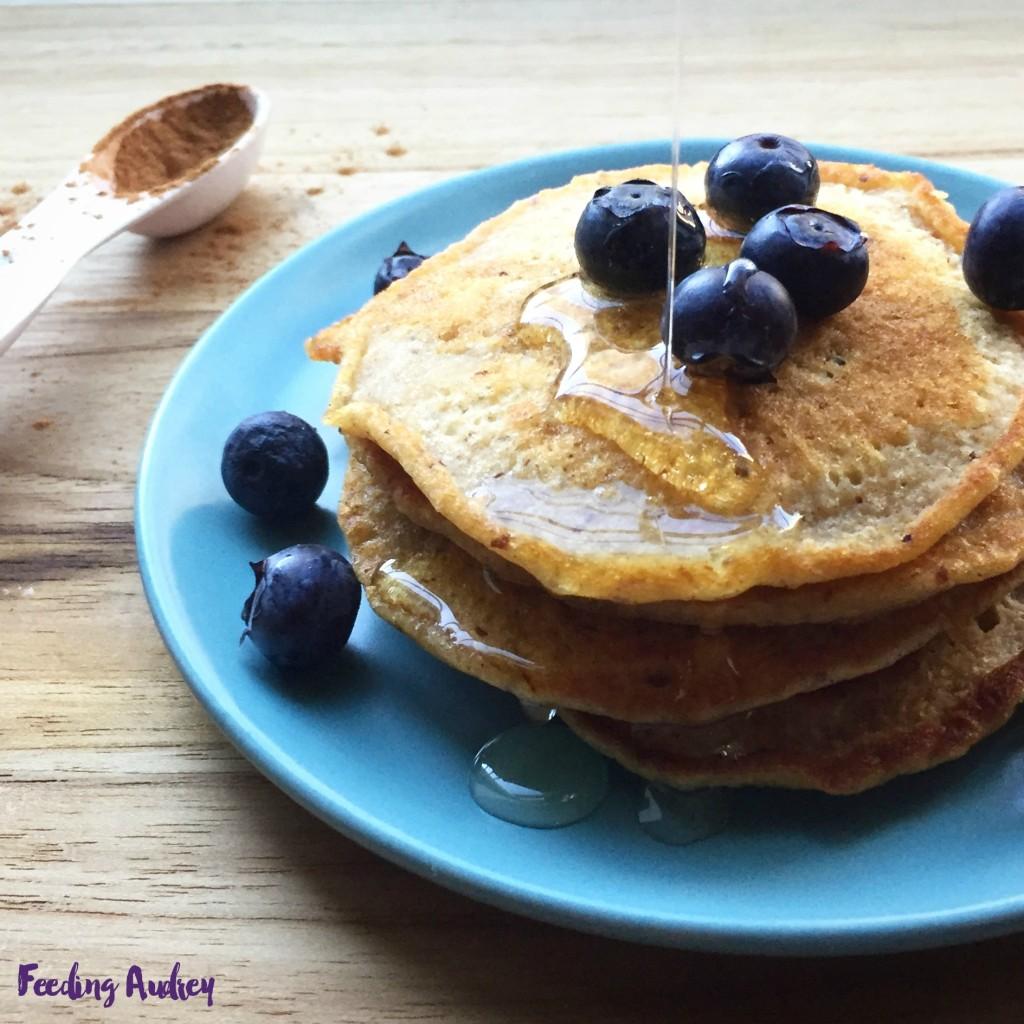 healthy butternut squash pancakes www.feedingaudrey.com