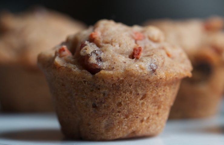 Carrot-Raisin Mini Muffins (V, GF)