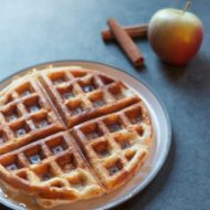 Whole-Grain Apple Cinnamon Waffles