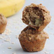 Chunky Banana Oat Muffins